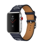 Apple Watch Hermes Series 3 42mm Stainless Steel Case with Marine Gala Leather Single Tour Eperon d'Or