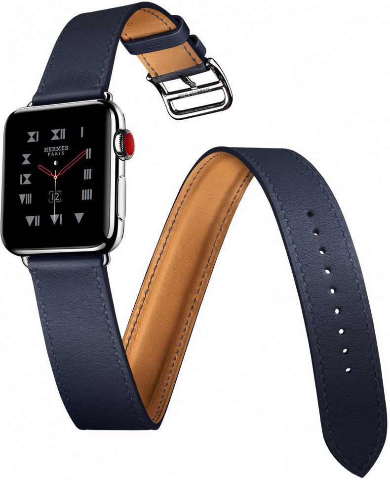 Купить Apple Watch Hermes 38mm Indigo Swift Double Tour в Москве ... 1a12515491b