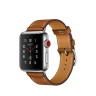 Apple Watch Hermes Series 3 38mm Stainless Steel Case with Fauve Barenia Leather Single Tour