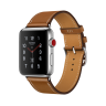 Apple Watch Hermes Series 3 42mm Stainless Steel Case with Fauve Barenia Leather Single Tour
