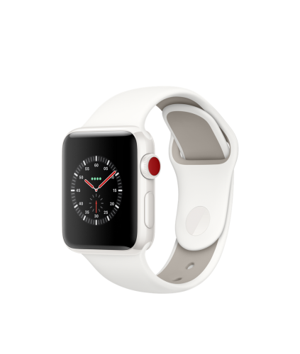 Apple Watch Edition Series 3 38mm, спортивный ремешок белого цвета