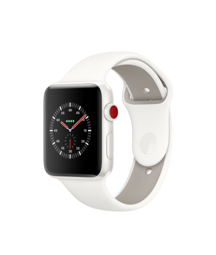 Edition, спортивный ремешок белого цвета 42mm, GPS + LTE, Series 3
