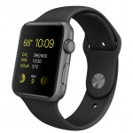 Apple Watch Sport 42mm with Black Sport Band / Черный MJ3T2