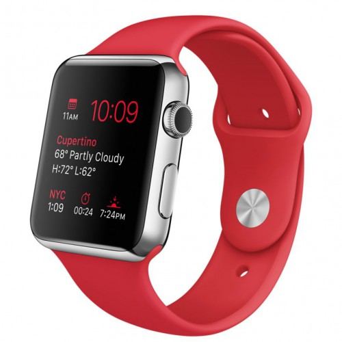 Apple Watch 42mm with Sport Band RED / Красный MLLE2