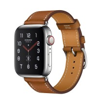 Apple Watch Hermes Series 5, 40mm Stainless Steel Case with Fauve Barenia Leather Single Tour