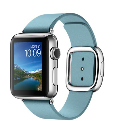 Apple Watch 38mm with Modern Buckle Marine Blue / Голубой ремешок с современной пряжкой MMF92