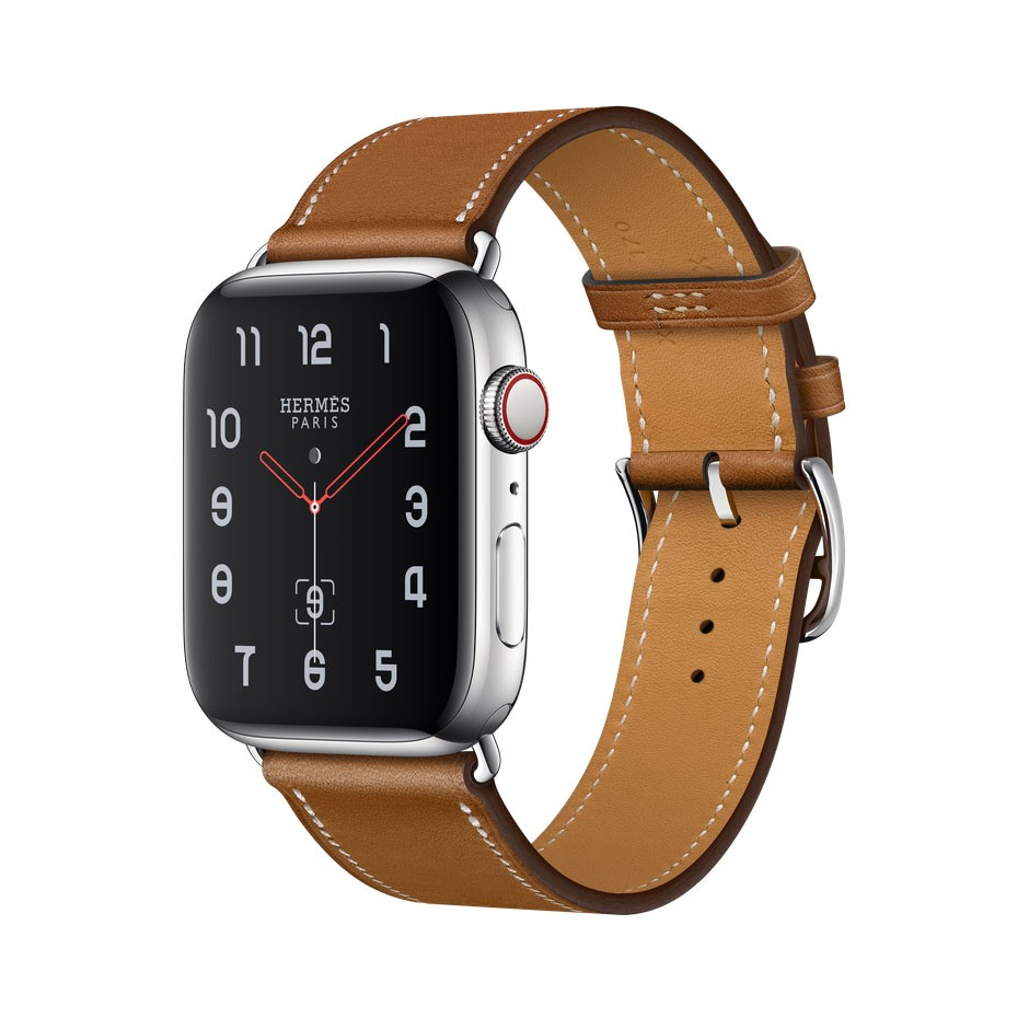 9c4c43350537 Apple Watch Series 4 Hermes, 44 мм, кожаный коричневый ремешок, нержавеющая  сталь, Cellular + GPS