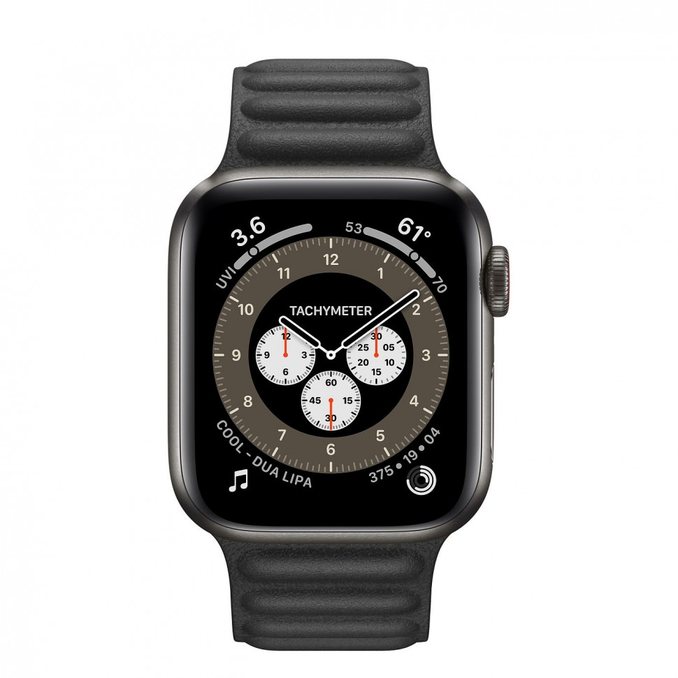 Apple Watch Series 6 Titanium 40mm купить space black недорого