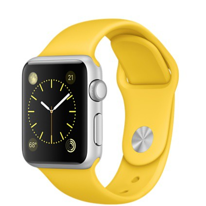 Apple Watch Sport 38mm with Yellow Sport Band / Желтый MMF02