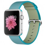 Apple Watch Sport 42mm with Plaited Nylon Light Blue / Голубой плетеный нейлон MMFN2