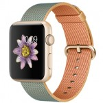 Apple Watch Sport 42mm with Plaited Nylon Gold Blue / Золотистый плетеный нейлон MMFQ2