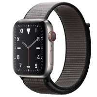 Apple Watch Edition Series 5 Titanium, 44 мм Cellular + GPS, серый браслет