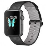 Apple Watch Sport 42mm with Plaited Nylon Black / Черный плетеный нейлон MMFR2