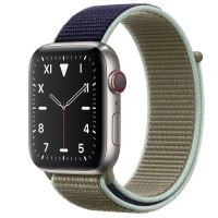 Apple Watch Edition Series 5 Titanium, 44 мм Cellular + GPS, браслет хаки