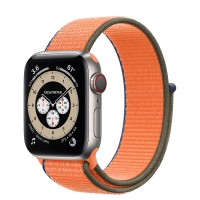 "Apple Watch Edition Series 6 Titanium 40mm, спортивный браслет ""кумкват"""