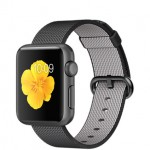 Apple Watch Sport 38mm with Plaited Nylon Black / Черный плетеный нейлон MMF62