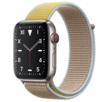 Apple Watch Edition Series 5 Titanium, 44 мм Cellular + GPS, браслет кэмел