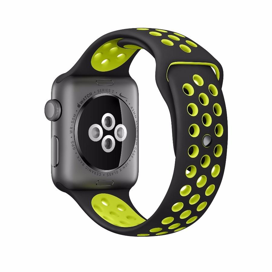 70f50718 Apple Watch 2 Nike 42mm, чёрно-салатовый ремешок, из алюминия