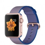 Apple Watch Sport 38mm with Plaited Nylon Blue/ Синий плетеный нейлон MMF62
