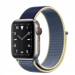 Apple Watch Edition Series 5 Titanium, 40 мм Cellular + GPS, синий браслет