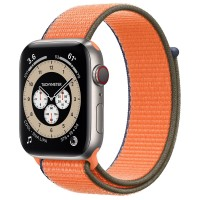 "Apple Watch Edition Series 6 Titanium 44mm, спортивный браслет ""кумкват"""