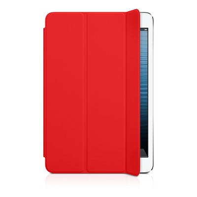 Чехол Apple для iPad mini Retina/ mini полиуретановый красный - iPad mini Smart Cover - Polyurethane - (PRODUCT) RED MD828