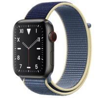 Apple Watch Edition Series 5 Titanium Space Black, 44 мм Cellular + GPS, синий браслет