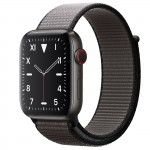 Apple Watch Edition Series 5 Titanium Space Black, 44 мм Cellular + GPS, серый браслет
