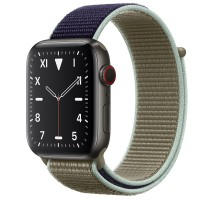 Apple Watch Edition Series 5 Titanium Space Black, 44 мм Cellular + GPS, браслет хаки