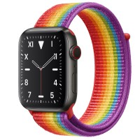 Apple Watch Edition Series 5 Titanium Space Black, 44 мм Cellular + GPS, цвет радуги