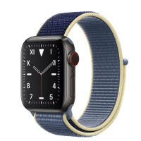 Apple Watch Edition Series 5 Titanium Space Black, 40 мм Cellular + GPS, синий браслет
