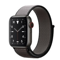 Apple Watch Edition Series 5 Titanium Space Black, 40 мм Cellular + GPS, серый браслет