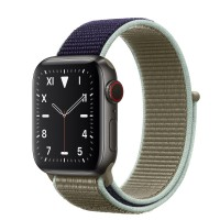 Apple Watch Edition Series 5 Titanium Space Black, 40 мм Cellular + GPS, браслет хаки