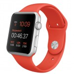 Apple Watch Sport 42mm with sport band orange / Оранжевый MLC42