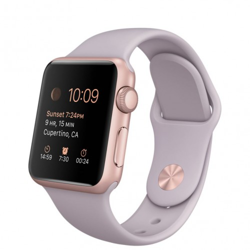 Apple Watch Sport 38mm Rose Gold with Lavender sport band / Сиреневый MLCH2