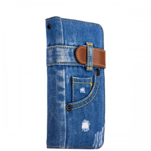 Чехол-книжка XOOMZ для iPhone 8 и 7 Plus Denim Notebook Popular - Джинсовый
