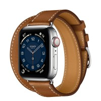 Apple Watch Series 6 Hermes 40mm, ремешок Double Tour из кожи Barenia цвета Fauve