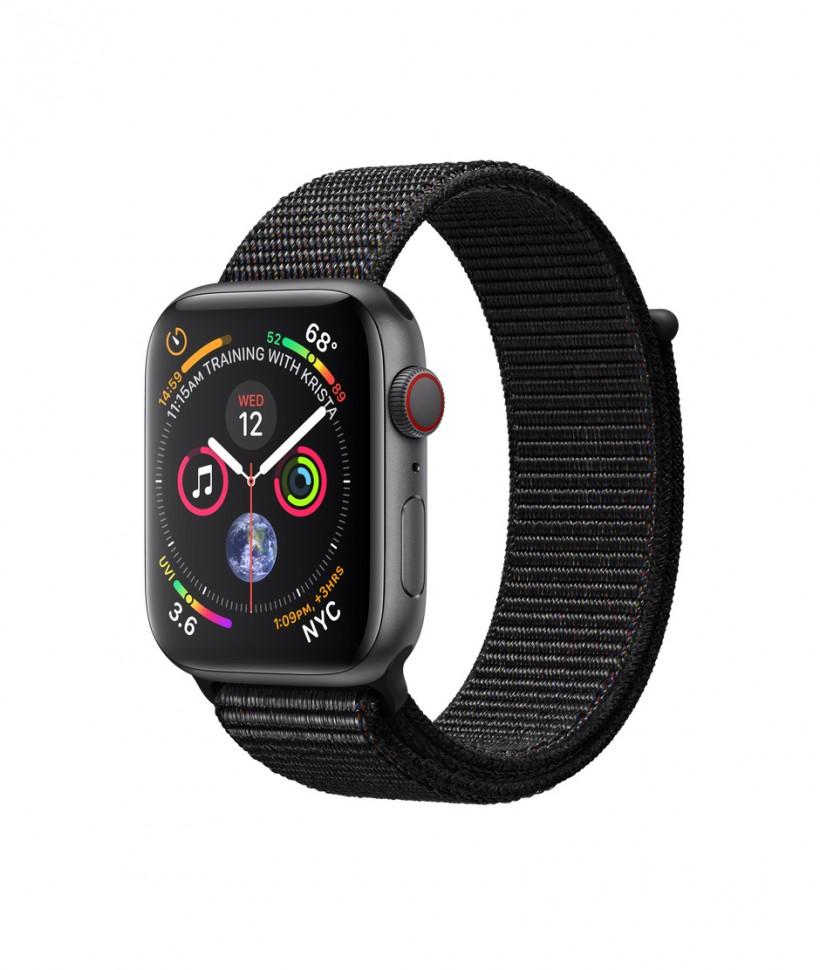 4231520e Купить Apple Watch Series 4 44mm Space Gray Aluminum Black Sport ...