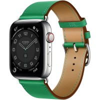 Apple Watch Series 6 Hermes 44mm, ремешок Single Tour из кожи Swift цвета Bambou
