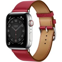 Apple Watch Series 6 Hermes 44mm, ремешок Single Tour из кожи Swift цвета Rouge Piment