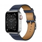Apple Watch Series 6 Hermes 40mm, ремешок Single Tour из кожи Swift цвета Navy