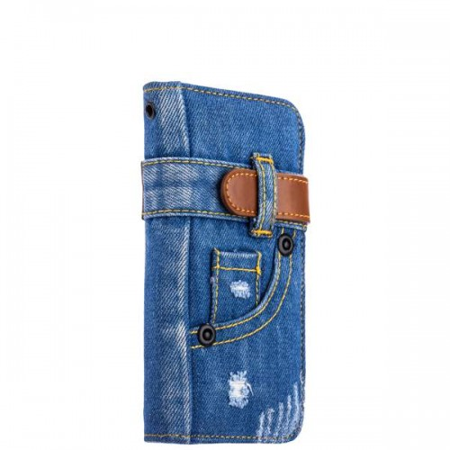 Чехол-книжка XOOMZ для iPhone 8 и 7 Denim Notebook Popular - Джинсовый