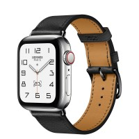 Apple Watch Series 6 Hermes 40mm, ремешок Single Tour из кожи Swift цвета Noir