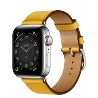 Apple Watch Series 6 Hermes 40mm, ремешок Single Tour из кожи Swift цвета Jaune Ambre