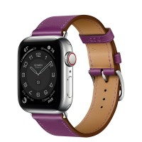 Apple Watch Series 6 Hermes 40mm, ремешок Single Tour из кожи Swift цвета Anemone