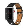 Apple Watch Hermes Stainless Steel Case with Noir Gala Leather Single Tour Rallye